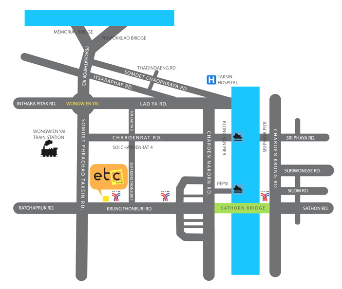 ETC Travel Mapa Oficina Principal